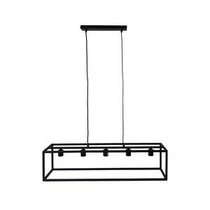 Hanglamp Fremont 5-lichts - 100x25 - Gepoedercoat zwart