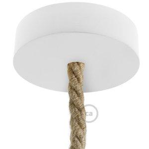 Houten plafondkap kit | voor Touwsnoer XL | Wit