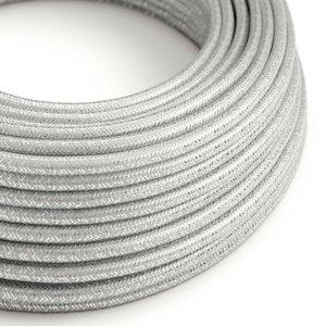 Strijkijzersnoer zilver glitter rol