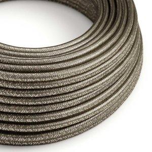 strijkijzersnoer grijs glitter rol
