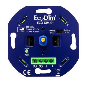 ECODIM LED Dimmer 0-300 Watt | Fase aan- en afsnijding | Universeel