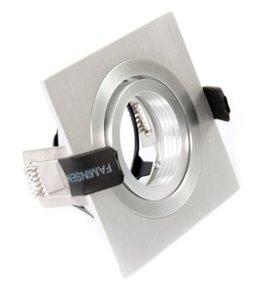 dimbare led inbouw spot voor 1 lamp vierkant