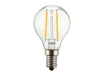 LED Filament kleine bol E14 2W 2700K Helder (G45)