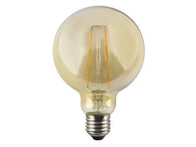 LED globe bol E27 2W 2200K GOUD (G95)