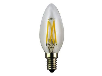 LED Filament Kaarslamp E14 4W 2700k Helder