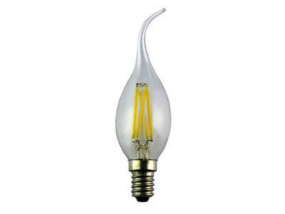LED Filament Kaarslamp met tip E14 4W 2700k Helder
