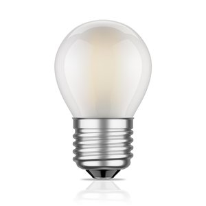 LED Filament kleine bol E27 2W 2700K Mat (G45)