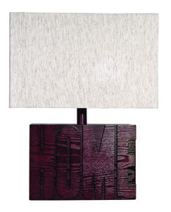 Schemerlamp bruin hout HOME 50cm