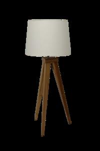 Tafellamp Hout Bamboe 73cm