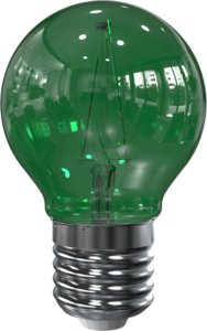 LED Filament kleine bol E27 2W Groen (G45)