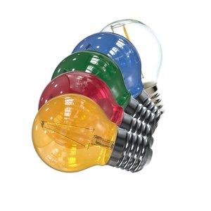 voordeelset 10x led filament kleine bol e27 set van 5 kleuren