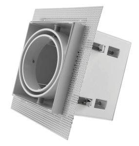Led inbouw spot armatuur - 1x AR70 Wit | Trimless