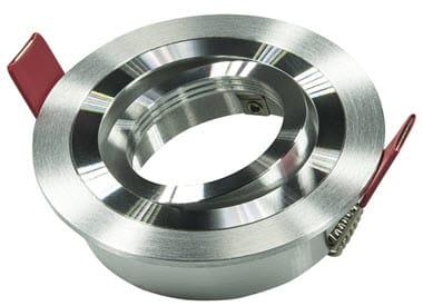 Led inbouw spot armatuur - aluminium rond - richtbaar V2