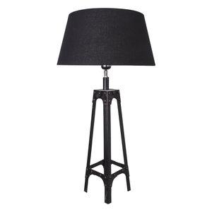 Tafellamp Gladiator Klinknagels 68Cm | Zwarte Conische Kap