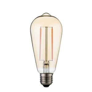 Dimbare led lamp E27 2W 2700K GOLD (ST64)
