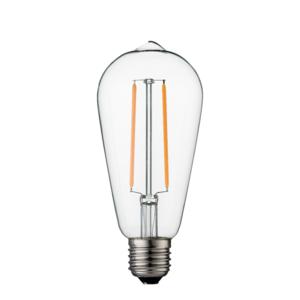 dimbare led lamp e27 2w 2200k helder st64