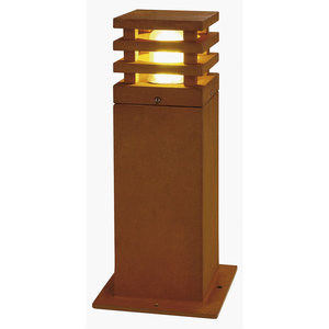 Staande lamp RUSTY SQUARE 40 geroest staal 1xE27