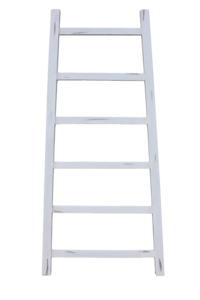 Decoratieve Ladder Tangga - Teak 150cm | Wit