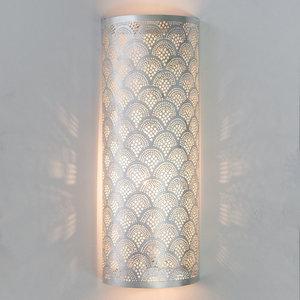 Wandlamp Cylinder Fan Large Silver Zenza