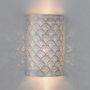 Wandlamp Cylinder Fan Silver Zenza