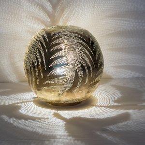 Ball Leaf Medium Gold Zenza Tafellamp