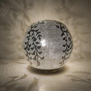 Ball Blossom Medium Silver Zenza Tafellamp
