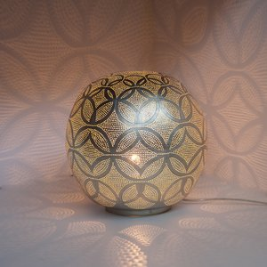 Ball Circles Medium Silver Zenza Tafellamp