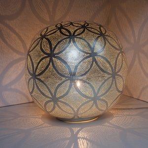 Ball Circles XL Silver Zenza Tafellamp