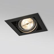 Led inbouw spot armatuur - 1x AR111/ES111 zwart | Verzonken