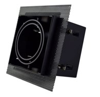 Led inbouw spot armatuur - 1x AR70 Zwart | Trimless